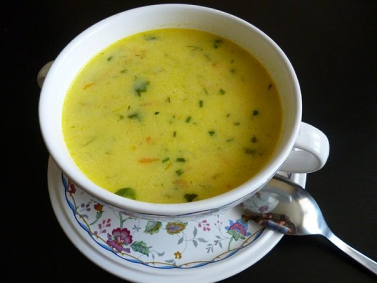 суп с сырками плавленными и вермишелью