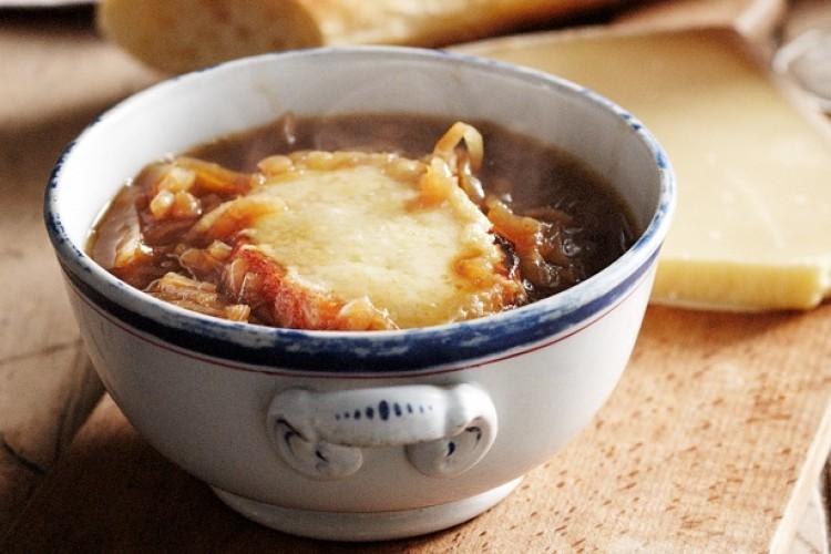 Овощной суп с луком