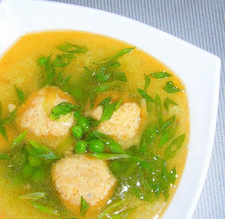 Вкусный гороховый суп с фрикадельками