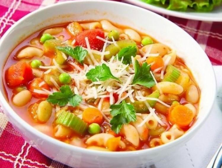 Вкусный суп  минестроне