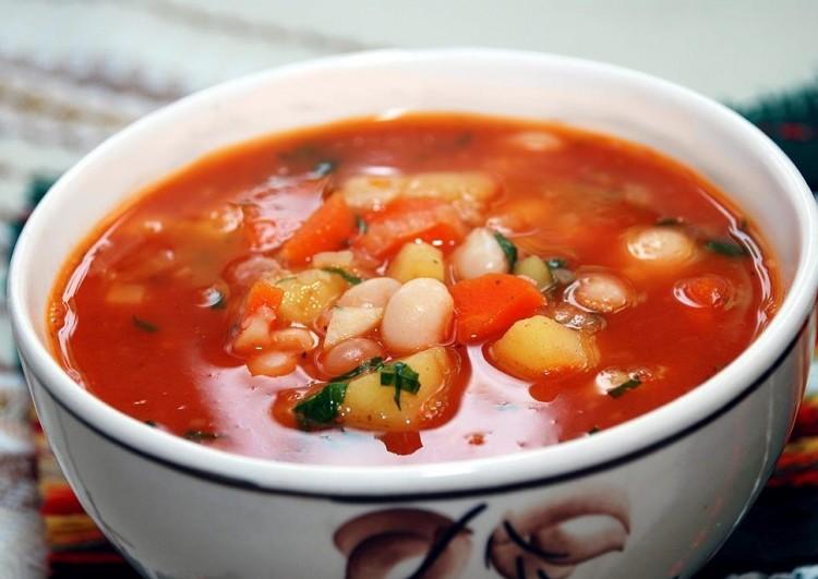 Очень нежный суп с фасолью