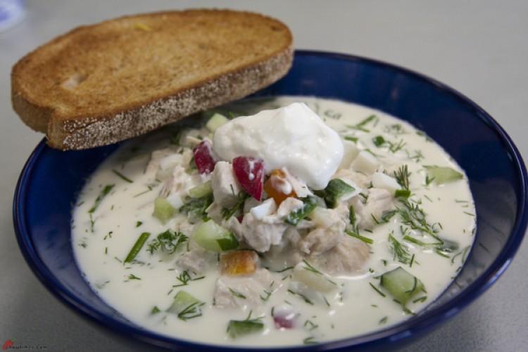 Очень вкусный холодный суп