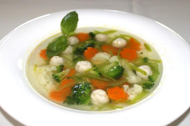 Вкусный и полезный суп с фрикадельками