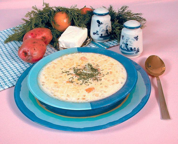 Вкусный рыбный суп с плавленным сыром