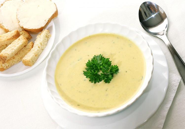 Вкусный сырный суп-пюре
