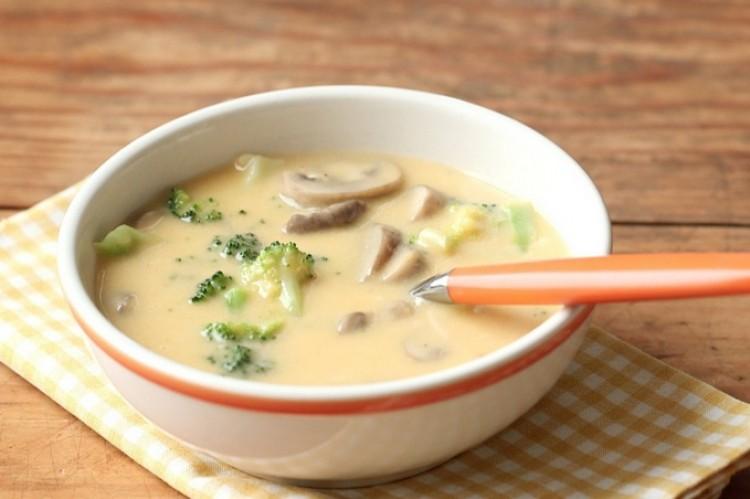 Вкусный сырный суп с грибами