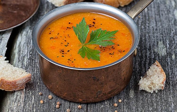 Суп - пюре с чечевицей