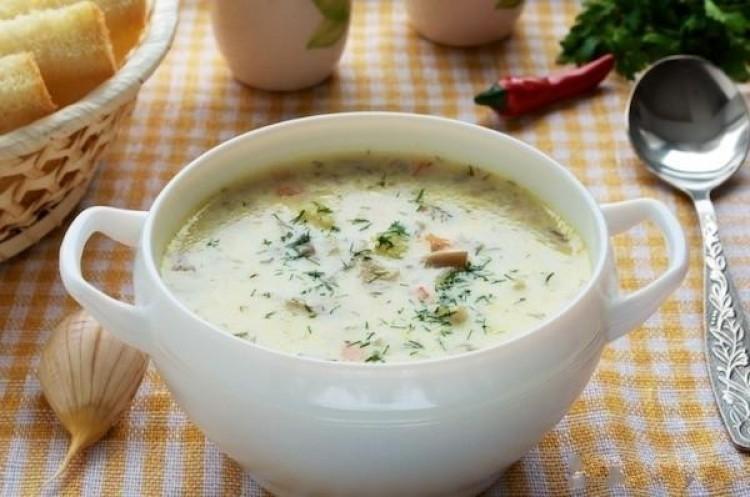 Вкусный суп с плавленным сырком