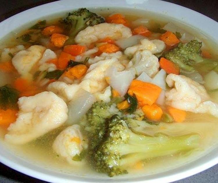 Вкусный суп с клёцками