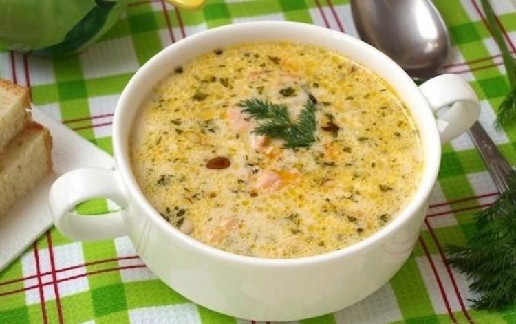 Вкусный суп с кедровыми орешками и рыбой