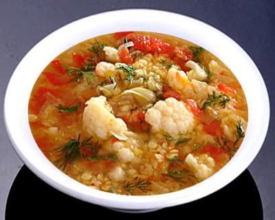 Суп с чечевицей и капустой
