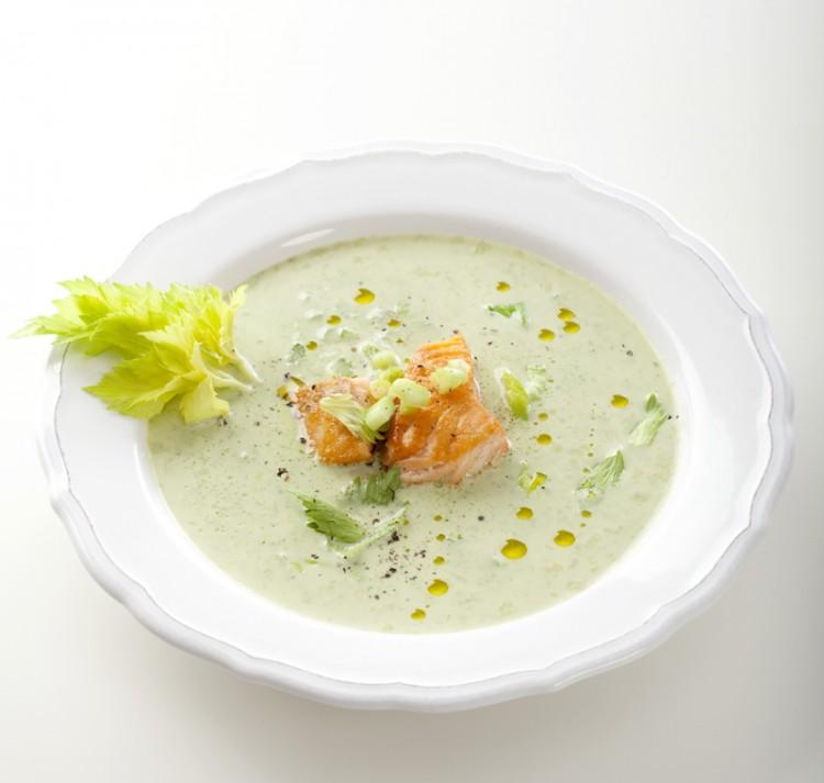 Очень вкусный суп с сёмгой