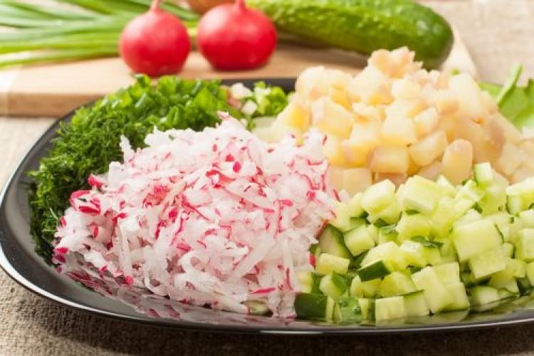 Готовим овощи на окрошку
