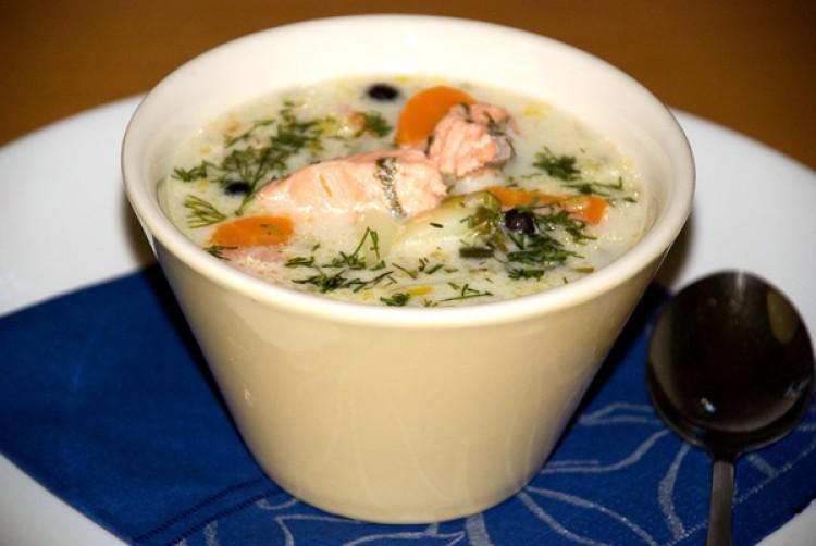 Рыбный суп с сёмгой