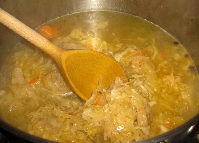 Как сварить борщ из квашеной капусты пошаговый рецепт