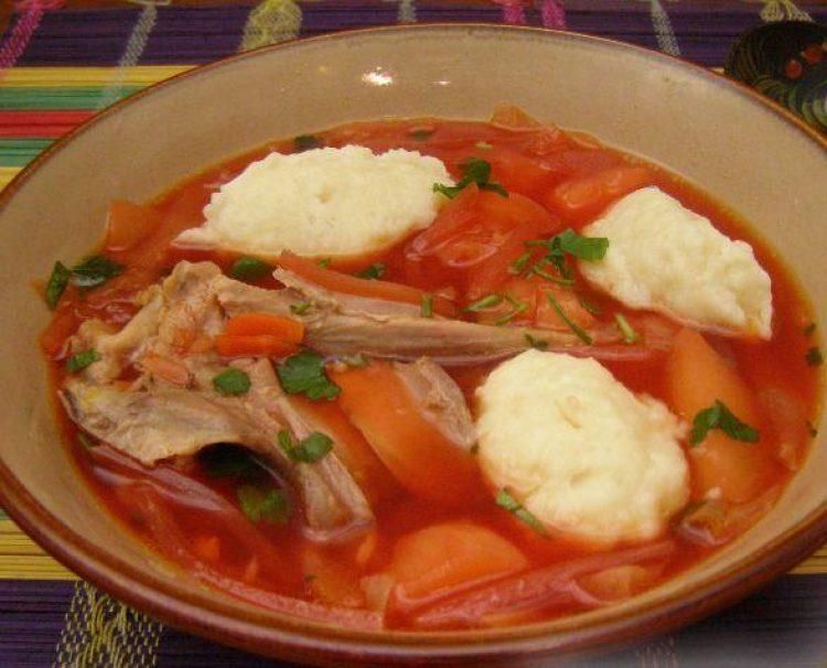 рецепт приготовления украинского борща с галушками
