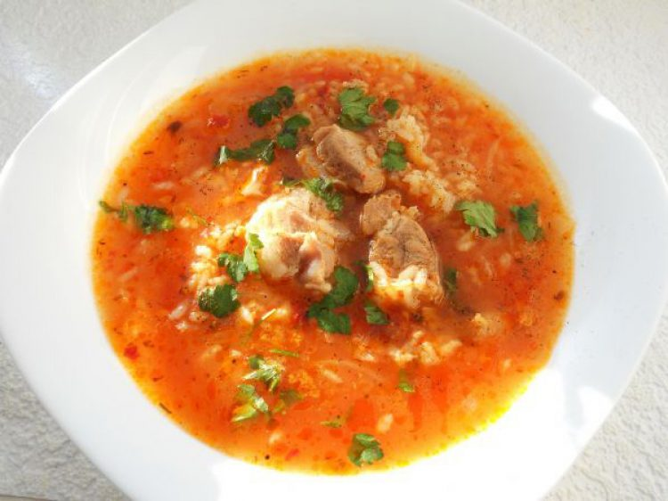 Вкусный суп харчо с рёбрышками