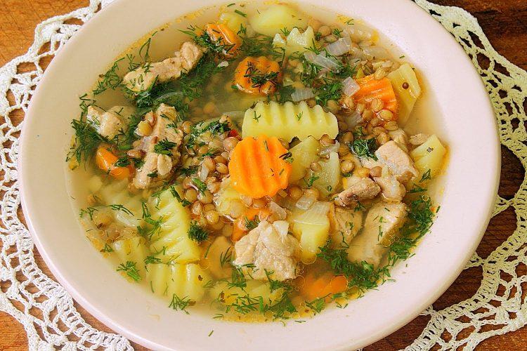 Вкусный чечевичный суп