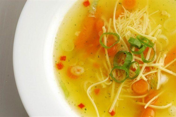 Вкусный китайский суп с лапшой