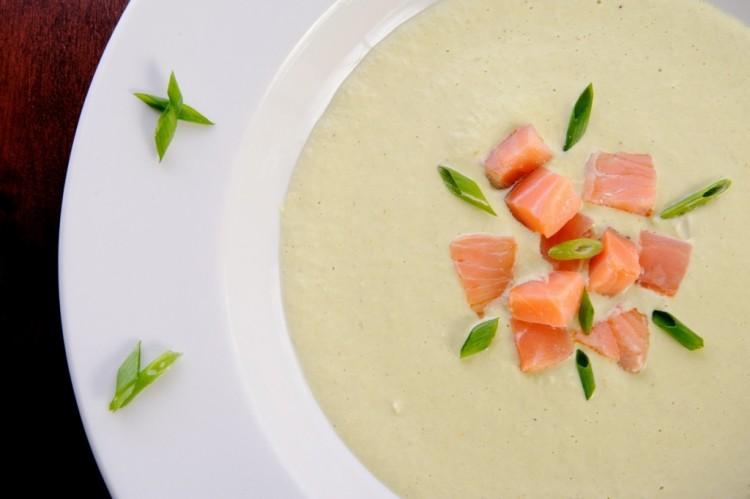 Вкусный крем-суп с сёмгой