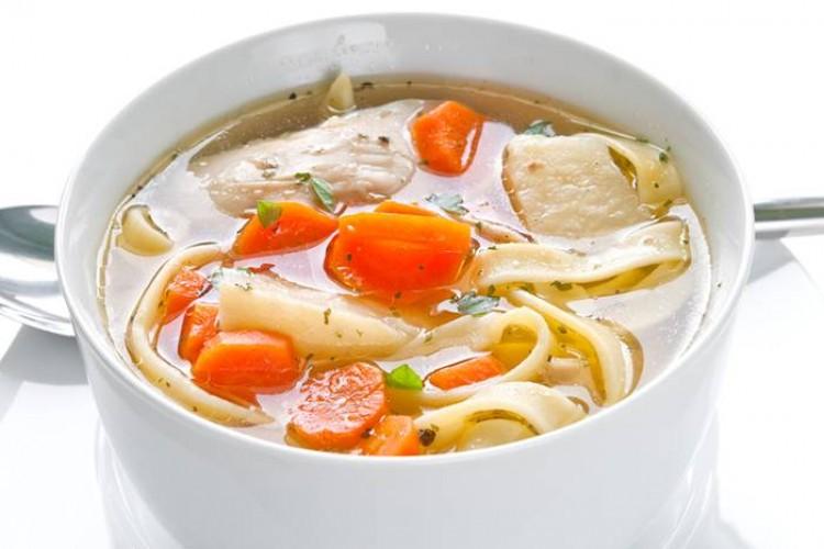 Вкусный суп с лапшой и курочкой