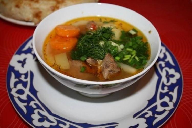 Вкусный мясной суп из свиниы