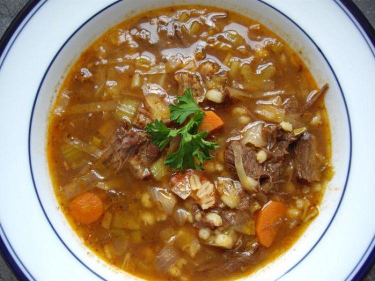 Перловка в супе харчо