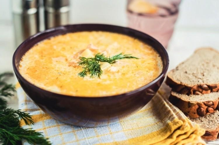 Суп с сёмгой и со сливками