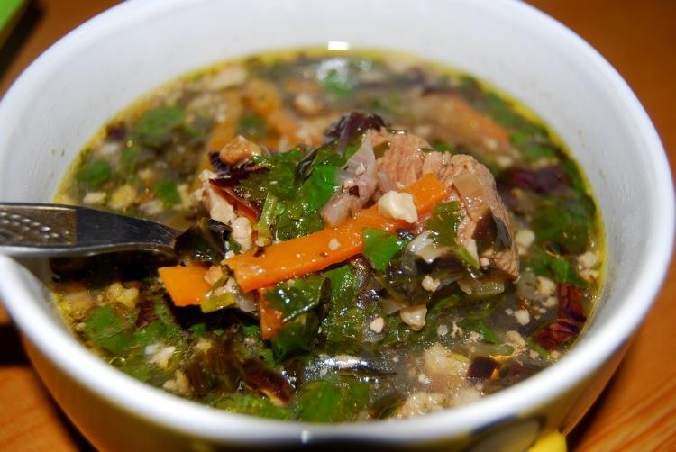 Вкусный суп харчо