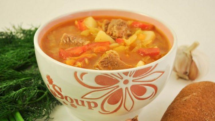 Борщ без свеклы с томатной пастой рецепт с пошагово