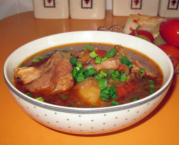 Суп с мясом по восточному