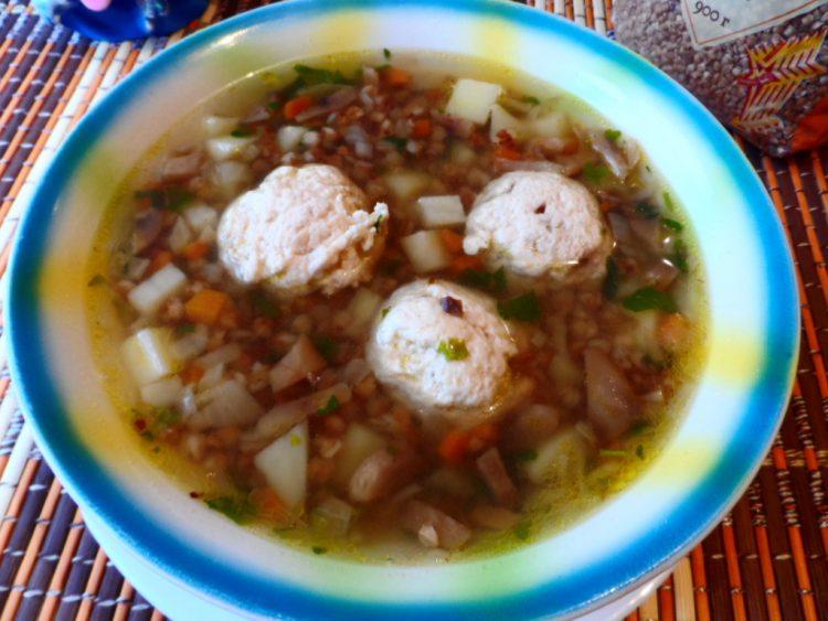 Вкусный суп гречневый