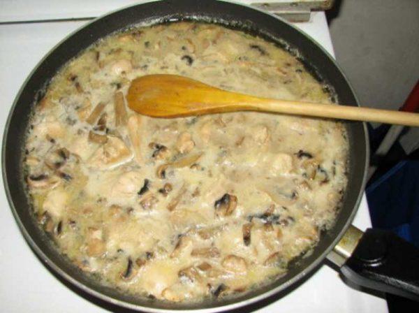 Готовим грибы с луком