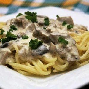 Сливочный грибной соус подача к макаронам