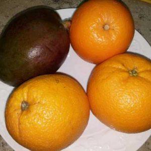 Апельсин и манго ингредиенты для острого соуса
