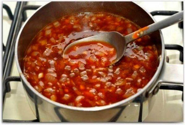 Приготовление кисло-сладкого соуса