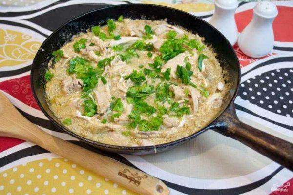 Приготовление курицы под соусом