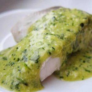 Польский соус подача с рыбой