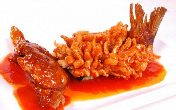Кисло-сладкий соус с рыбой