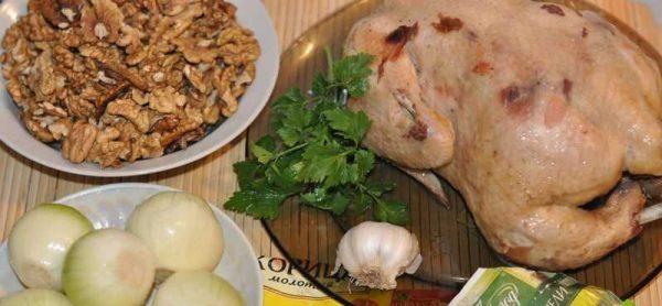 Ингредиенты для соуса сациви