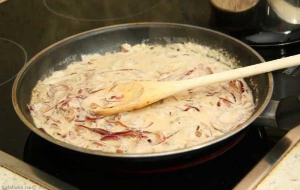 Приготовление лукового соуса