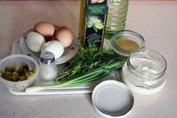 Ингредиенты к тартар