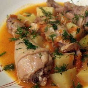Соус картофельный с курицей пошагово