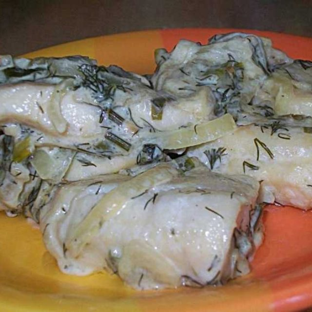 Треска в сметанном соусе как приготовить