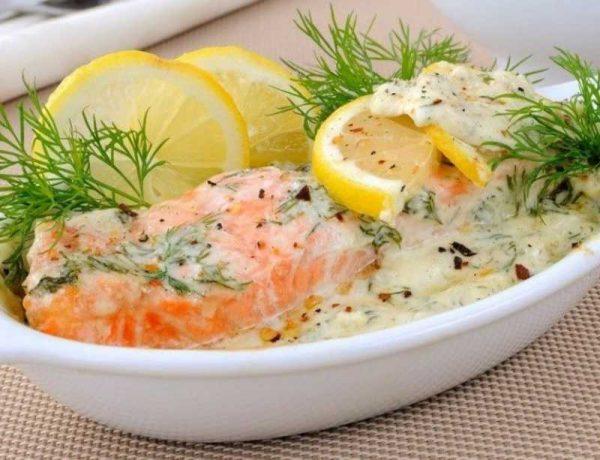 Белый соус к лососю