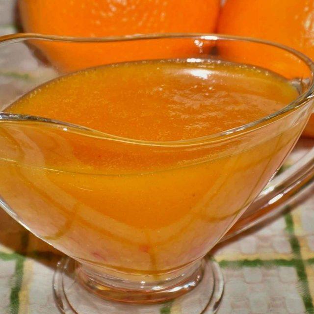 Мандариновый соус пошагово