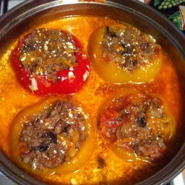 Фаршированные перцы пошаговый рецепт на сковороде
