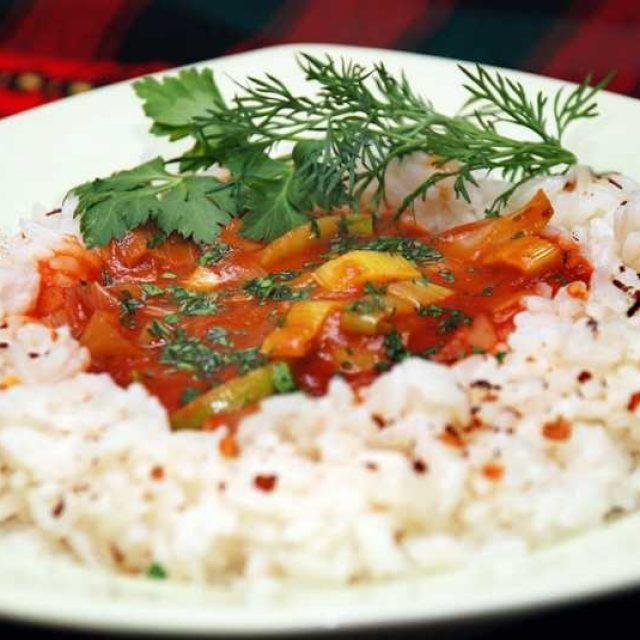 Рис с соусом