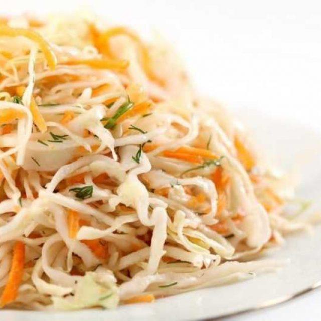 Салат из капусты с морковью заправка готовим дома