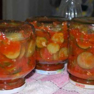 Томатный соус используем для консервированных овощей